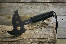 """Survivor Series 10.5"""" Stainless Steel Axe with Sheath New Black X-17"""