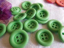 Set 14 Bottoni vintage verde fango di bordo diametro 1,7 cm ref 1333