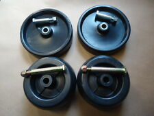 "4 Pack Mower Deck Wheels & Bolts Cub Cadet 44"" 50"" 1450 1650 149 169 1811 782"