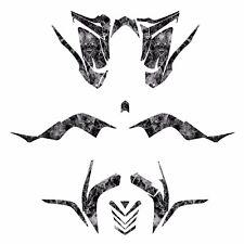 Raptor 700R graphics decal kit fits 2006 - 2012 #9500 Metal Zombie Skull