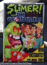 "Slimer! The Ghostbusters Cereal Box 2"" X 3"" Fridge / Locker Magnet."