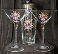 ED HARDY Martini Set Of Two and Shaker-- -NEW IN BOX. GREAT CHRISTMAS GIFT