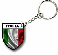 Keychain key ring keyring car motorcycles flag italy italia shield army