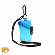 Witz See It Safe Blue Waterproof ID Badge Holder  - 00402