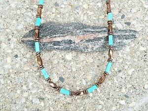 COPPER Magnetic Hematite Turquoise Bracelet Anklet Necklace Men Women