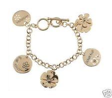 Flower Inspirational 18K Gold Plated Charm Bracelet