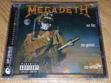 "MEGADETH  ""So Far, So Good...So What!""  W/Bonus Tracks  NEW (CD, 1988/2004)"