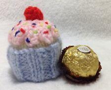 KNITTING PATTERN - Cupcake chocolate cover / ornament fits Ferrero Rocher