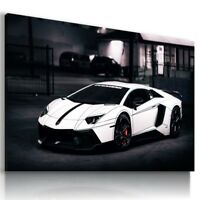LAMBORGHINI AVENTADOR WHITE Sports Car Wall Art Canvas Picture  AU768  MATAGA .