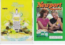 ABSOLUT 2005 mag print ad Citron Vodka alcohol NEWPORT cigarettes clipping vtg