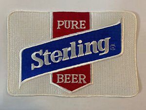 Large Vintage Pure Sterling Beer Patch NOS Jacket Patch F3E