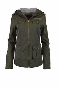 NEU HURLEY Damen Übergangs-Jacke Parka Mantel Frances Zip Hooded Jacket Gr. L