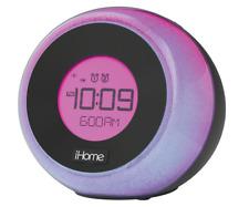 iHome IBT290 Dual Alarm Clock Radio Color Changing Bluetooth USB Charging