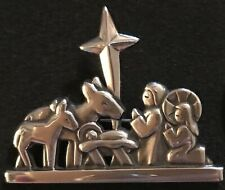 James Avery Nativity Holy Family Pin Sterling Silver Retired