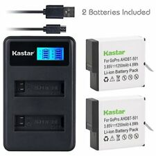Battery & LCD Dual Charger for GoPro HERO7 White, GoPro HERO7 Black