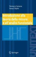 Unitext: Introduzione Alla Teoria Della Misura e All'analisi Funzionale by...