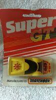 DIECAST MODEL CAR MATCHBOX SUPER GT YELLOW SPORTS CAR 1980s NO 217