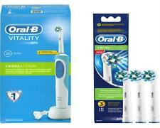 SPAR-SET Braun Oral-B Vitality Cross Action Elektrozahnbürste Timer + 4 Bürsten