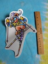 Grateful Dead Dancing Bear Skiing Skier Vintage Window Sticker 6 Inches Tall
