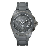 BRAND NEW GUESS COLLECTION GC X76016G5S GUNMETAL CHRONOGRAPH CERAMIC MEN'S WATCH