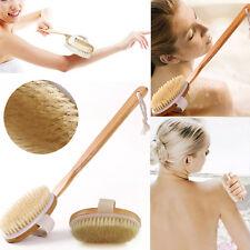 Cepillo de baño de cuerpo natural de cognac matorral cepillo de piel seca