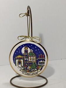 Carolyn Payne Creations Ceramic Christmas Ornament Kansas City Plaza 1992 Lights