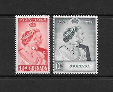 1948 KGVI Royal Silver Wedding Set SG166 & SG167 Mint Hinged GRENADA