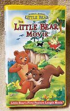 THE LITTLE BEAR MOVIE Vhs Video Tape Maurice Sendak 2001 Nelvana Clamshell Case