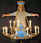 MASSIVE French Napoleonic Bees EMPIRE Brass 18 Arm 18 Lite Chandelier 48W x 52T