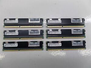 Lot of 6 - Micron MT36JSZF51272PZ-1G4F1DD 4GB PC3-10600R DD3-1333 Memory Module