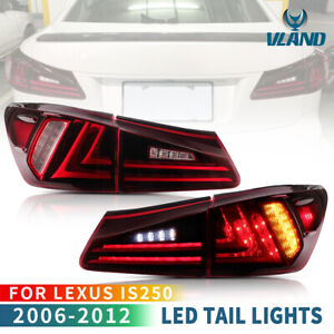 For 2006-2013 Lexus IS250 IS350 ISF Red Full LED Tail Lights