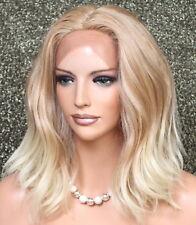 Full Lace Front Wig Wavy Beachy Blonde mix Heat OK Hair Piece Full WBHI 27-613