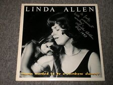 Linda Allen~Mama Wanted To Be A Rainbow~AUTOGRAPHED~Lyric Insert~FAST SHIPPING!