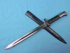 Czechslovakian Czech Wwii Ww2 Mauser Bayonet Fighting Knife w/ Scabbard *