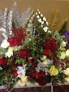 15x Artificial Christmas Bunches Sprays Joblot Flowers Holly Bush Clearance Sale