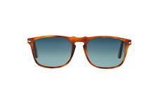 NWT Persol Sunglasses PO 3059S 96S3 Polarized Terra Di Siena /Gradient Blue 54mm