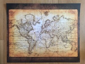 18th Century World Map 16 X 20 Poster