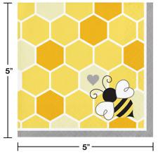 Bumblebee Baby Beverage Napkins (16) - Bee Birthday & Baby Shower Party Supplies
