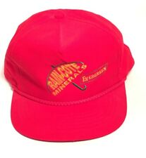 Vintage Evergreen Rain-Cote Minerals Red Hat Cap One Size Snap Back f76548292188