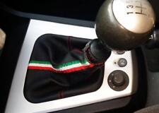 cuffia leva cambio Alfa Romeo 156 2° serie vera pelle nera + tri
