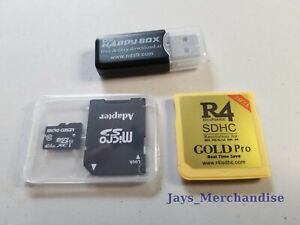 R4 Gold Pro Revolution 2021 Optional sd card w/ 883 nds/gba/gbc games USA Seller