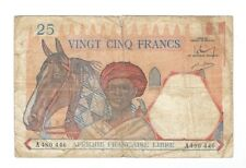 French Equatorial Africa - Twenty Five (25)  Francs, 1941