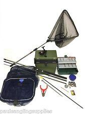 Complete Coarse Float Fishing Kit Set .Okuma 10ft Rod, Reel, Box ,Tackle Nets