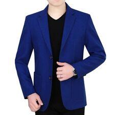 Men's Casual Blazers Coat Slim Fit Jacket Autumn Formal Dress Two Button Plain