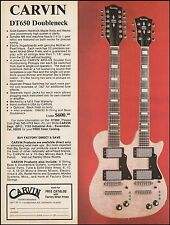 Carvin DT650 Doubleneck electric guitar 8 x 11 advertisement 1976 ad print