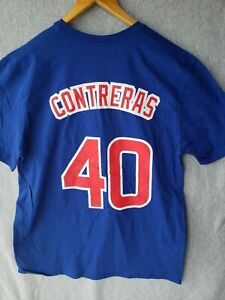 Chicago Cubs Wilson Contreras #40 Nike Royal Blue Shirt Mens Size Large
