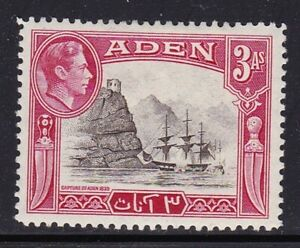ADEN 1939 GEORGE VI 3A MINT HINGED MH/MINT SG22