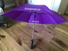 EUC: Collectible Drug Rep Promo: LEVAQUIN Purple Folding Umbrella