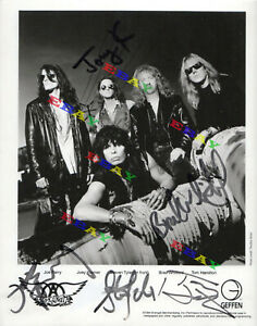 Aerosmith Band  Autographed signed 8x10 Photo Reprint