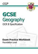 GCSE Geography OCR B Exam Practice Workbook Foundation, Good Condition Book, CGP